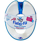 Pourty Flexi-Fit Toilet Trainer, Blue