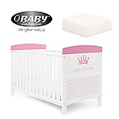 Obaby Grace Inspire Cotbed plus Mattress - Little Princess