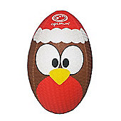 Optimum Christmas Robin Rugby Ball - Brown