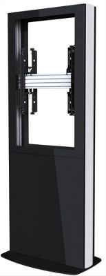 Back-to-Back Portrait Digital Signage Kiosk for 84 inch Screens - Black