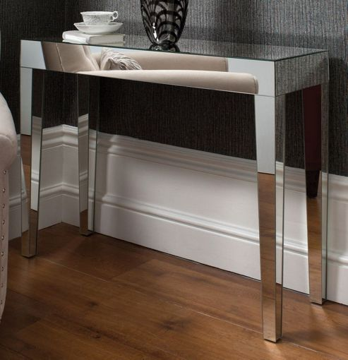 Gallery Direct Geo Mirrored Console Table