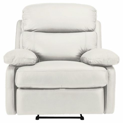 Cordova Leather Recliner Chair Ivory