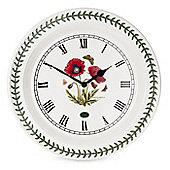 Portmeirion Botanic Ceramic Garden Poppy Wall Clock 25cm