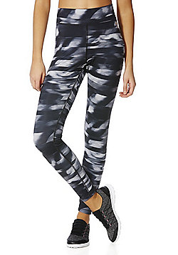 F&F Active Blurred Print Leggings - Grey