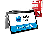 "Certified Refurbished HP Pavilion x360 14"" Convertible Laptop Intel Pentium 4415U 4GB 128GB SSD Windows 10 with Internet Security - 1WQ20EA#ABU"