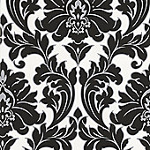 Superfresco Easy Majestic Paste The Wall Damask Black/White Wallpaper