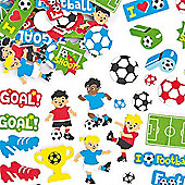 Football Foam Craft Stickers (Pack of 120)