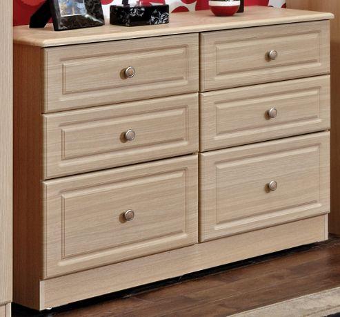 Welcome Furniture Pembroke 6 Drawer Midi Chest - Light Oak