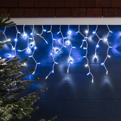 Buy 100 blue white led outdoor connectable icicle lights from our 100 blue white led outdoor connectable icicle lights aloadofball Choice Image
