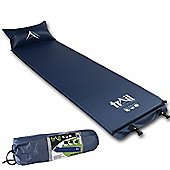 Trail Self-Inflating Camping Mat With Pillow - Blue