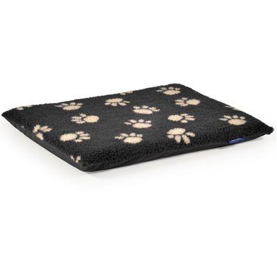 Ancol Cream Paw Print On Black Flat Pad - Medium