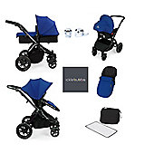 ickle bubba Stomp V2 AIO with Safet Mosquito Net Travel System - Blue (Black Chassis)