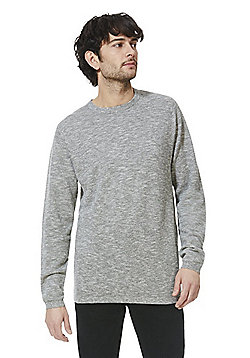F&F Slub Jersey Crew Neck Jumper - Grey