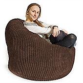 Lounge Pug® Mini Mammoth Bean Bag Chair - Cord Mocha Brown