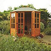 Ryton 8 x 6 Octagonal Summerhouse Wooden Summerhouse (12mm T&G Floor & Roof) (8ft x 6ft)