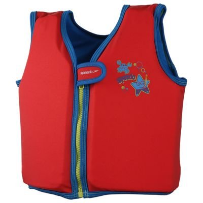 Speedo Sea Squad Infant Toddler Kids Boys Swim Float Vest Red - 4-6 Years
