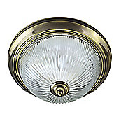 Traditional Antique Brass IP44 Bathroom Ceiling Light