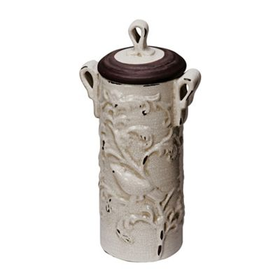 Gustavian Tall Crackle Glaze Vase