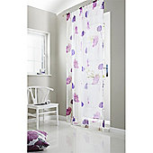Alan Symonds Unlined Tuscany Slot Top Curtain Panel - Purple