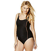 F&F High Neck Racerback Maternity Swimsuit - Black