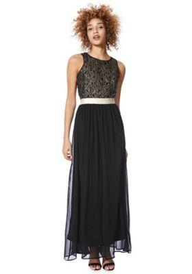 Solo Lace Bodice Maxi Dress Black 18