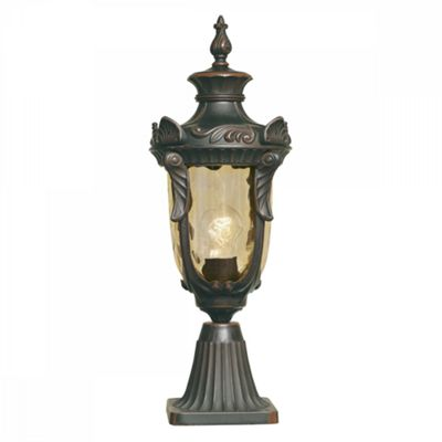 Old Bronze Pedestal Lantern Medium - 1 x 100W E27