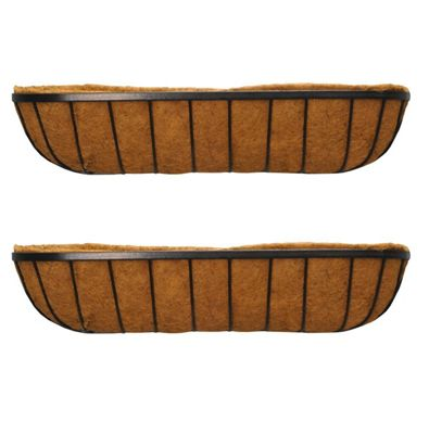 Set of 2 Georgian Wall Trough Planters (90cm)