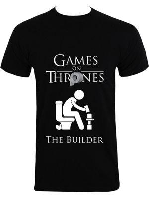 Games on Thrones The Builder Men's T-shirt, Black.