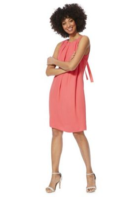 F&F Tall Tie-Back Shift Summer Dress Pink 18