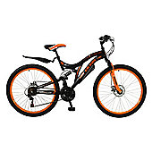 "Boss Black Ice 26"" Full Suspension Mountain Bike"