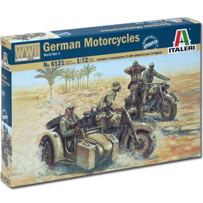 Italeri 6121 Wwii German Motorcycles 1:72 Model Kit