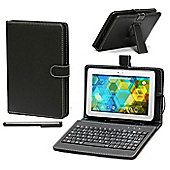 Navitech - Black Keyboard Stand case for the Hipstreet Phantom 10 inch Android Tablet with stylus pen