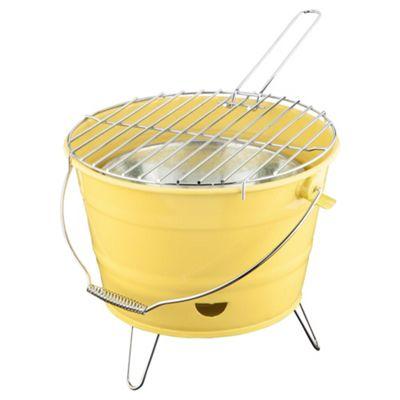 Tesco Small Charcoal Bucket BBQ, Yellow