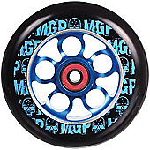 Madd Gear MGP Aero Skull 110mm Scooter Wheel Including Bearings - Blue
