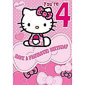 Hello Kitty Birthday Card - 4 Years