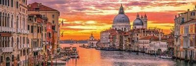 The Grand Canal - Venice - 1000pc Panoramic Puzzle