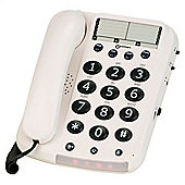 Geemarc Dallas10 Big Button Corded Phone - White