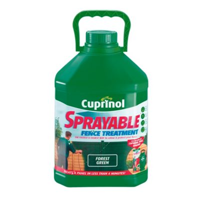 Cuprinol Sprayable Timbercare, 5L, Forest Green