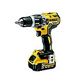 Dewalt DCD796P2-GB 18 V XR Brushless Compact Combi Drill with 2 x 5 A Lithium-Ion Batteries
