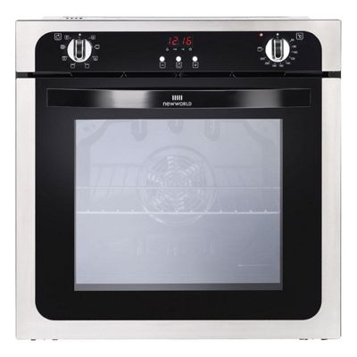New World NW602MFSTA 59cm Stainless Steel Electric Single Oven