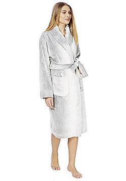 F&F Ombr© Stitch Detail Dressing Gown - Grey