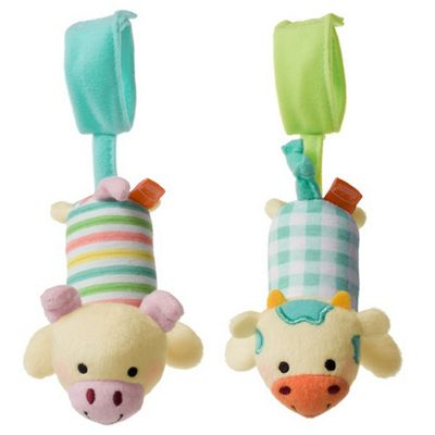 Infantino Tag Along Chimes Cow and Pig