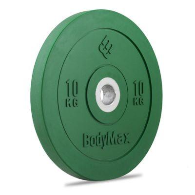 Bodymax Olympic Rubber Bumper Plate - Green 10kg