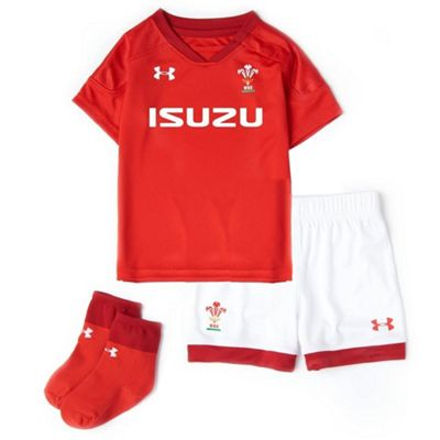 Under Armour Wales 2017/18 Toddler Junior Kids Home Rugby Kit - 5 Years