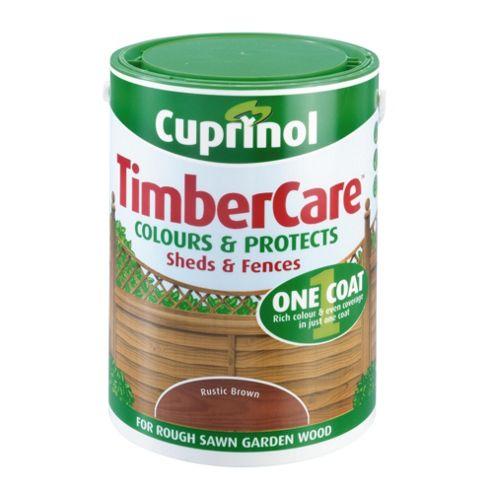 Cuprinol Timbercare, 5L, Rustic Brown