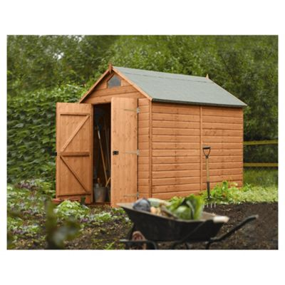 Rowlinson Apex Wooden Security Shed, 8x6ft