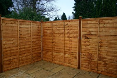 Mercia Waney Edge Fencing 3 Panel and Post Pack