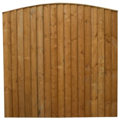 Mercia Vertical Featheredge Curved Top Fencing 3 Panel and Post Pack