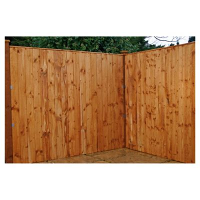 Mercia Vertical Featheredge Fencing 3 Panel and Post Pack