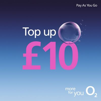 O2 £10 mobile Top Up
